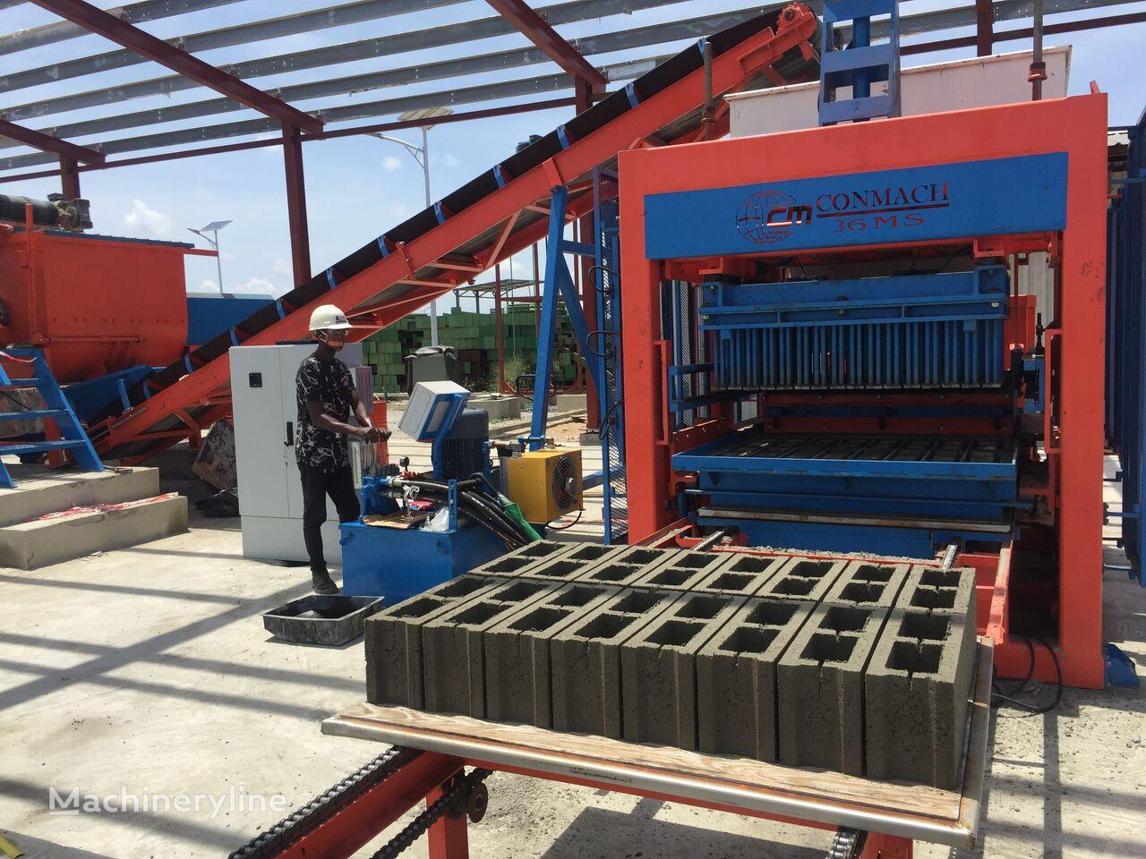 nieuw CONMACH xxx Concrete Block Moulding Machine - 16.000 pcs 6'' betonblok machine