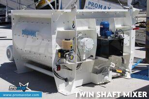 nieuw PROMAX 2 m3 /3 m3 TWIN SHAFT MIXER betoncentrale