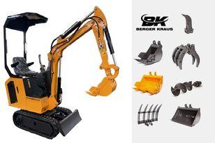 nieuw BERGER KRAUS Mini Excavator BK800BS torsion arm with FULL equipment minigraver